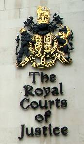 The Royal Courts of Justiceエンブレム